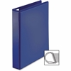 "Sparco Ring Binder - 1"" Binder Capacity - D-Ring Fastener - 4 Pocket(s) - Polypropylene - Navy"