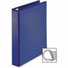 """Sparco Ring Binder - 1 1/2"""" Binder Capacity - D-Ring Fastener - 4 Pocket(s) - Polypropylene - Navy"""