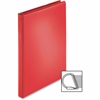 "Sparco Ring Binder - 1"" Binder Capacity - D-Ring Fastener - 4 Pocket(s) - Polypropylene - Red"