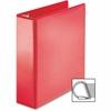 "Sparco Ring Binder - 3"" Binder Capacity - D-Ring Fastener - 4 Pocket(s) - Polypropylene - Red"