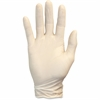 Safety Zone 5 mil Latex Gloves - Polymer Coating - Medium Size - Latex - Natural - Powder-free, Rolled Cuff, Liquid Resistant, Ambidextrous, Disposable, Chemical Resistant, Durable