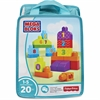 Mega Bloks Basic Building Block 20-piece Set - Theme/Subject: Learning - Skill Learning: Number, Counting, Imagination, Construction, Building - 20 Pieces