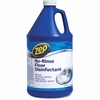 Zep Commercial No-Rinse Floor Disinfectant - Concentrate Liquid Solution - 1 gal (128 fl oz) - 1 Each - Blue