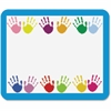 "Carson-Dellosa Grades PreK-5 Handprints Name Tags - 40 Label(s)"" - 3"" Width x 2.50"" Length - Rectangle - Multicolor - 1 Each"