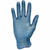 Safety Zone Powder Free Blue Vinyl Gloves - Large Size - Vinyl, Polypropylene - Blue - Powder-free, Latex-free, Comfortable, Silicone-free, Allergen-free, DINP-free, DEHP-free, Ambidextrous, Liquid Re