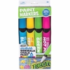 MEGA Brands Neon Jumbo Paint Markers - Jumbo Point Type - Blue, Hot Pink, Lime Green, Neon Yellow - 4 / Carton