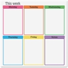 "Flipside This Week Clinging Dry-erase Film - 24"" (2 ft) Width x 24"" (2 ft) Length - Assorted - Square - 1 Each"