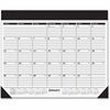 """At-A-Glance Refillable Desk Pad Calendar - Julian - Monthly - 1 Year - January 2017 till December 2017 - 1 Month Single Page Layout - 19"""" x 24"""" - Desktop - White - Vinyl"""
