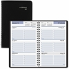 "12 Months Dated Weekly Appointment Book - Julian - Weekly - 1 Year - January till December - 8:00 AM to 5:00 PM - 1 Week Double Page Layout - 4.88"" x 8"" - Black - Paper 2017"