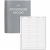 "Dome Undated Spiral Appointment Book - Daily - 1 Year - 7:00 AM to 9:00 PM, 8:00 AM to 8:30 PM, 9:00 AM to 8:00 PM - 1 Day Double Page Layout - 8.50"" x 11"" - Spiral Bound - Gray - Vinyl, Leather - Non"