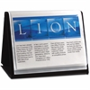 "Lion Flip-N-Tell Display Easel Book - Letter - 8 1/2"" x 11"" Sheet Size - 40 Sheet Capacity - 20 Pocket(s) - Polypropylene - Black - Recycled - 1 Each"