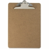 "OIC Wood Clipboard - 1"" Clip Capacity - 9"" x 12.50"" - Clamp - Hardboard - Brown"