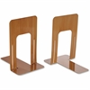 "OIC Bookend - 9"" Height x 8.2"" Width x 5.9"" Depth - Desktop - Wood Grain - Steel - 2 / Pair"