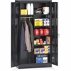 "Tennsco Combination Wardrobe/Storage Cabinet - 36"" x 18"" x 72"" - 2 x Door(s) - Locking Mechanism, Welded, Heavy Duty, Reinforced - Black - Recycled"