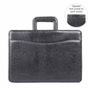 "Carrying Case (Briefcase) for Document, Accessories - Black - Handle - 12"" Height x 16.3"" Width x 4"" Depth"