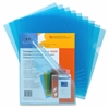 "Transparent File Holder - Letter - 8 1/2"" x 11"" Sheet Size - 20 Sheet Capacity - Blue - 10 / Pack"