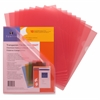 "Sparco Transparent Poly File Holders - Letter - 8 1/2"" x 11"" Sheet Size - 20 Sheet Capacity - Red - 10 / Pack"