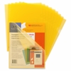 "Sparco Transparent File Holder - Letter - 8 1/2"" x 11"" Sheet Size - 20 Sheet Capacity - Yellow - 10 / Pack"