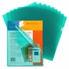 "Transparent File Holder - Letter - 11"" x 8 1/2"" Sheet Size - 20 Sheet Capacity - Polypropylene - Green - 10 / Pack"