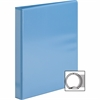 "Sparco Premium Round Ring View Binders - 1"" Binder Capacity - Letter - 8 1/2"" x 11"" Sheet Size - 3 x Round Ring Fastener(s) - 2 Internal Pocket(s) - Polypropylene - Light Blue - 1 Each"
