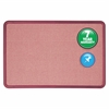 "Quartet® Contour® Fabric Bulletin Board, 3' x 2', Burgundy Frame, Mauve Fabric - 24"" Height x 36"" Width - Mauve Fabric Surface - Burgundy Frame - 1 / Each"