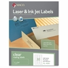 "MACO Laser/Ink Jet Matte Clear Multi-Purpose Labels - Permanent Adhesive - 1"" Width x 2.63"" Length - 30 / Sheet - Rectangle - Laser, Inkjet - Clear - 1500 / Box"