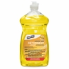 Genuine Joe Dishwashing Detergent - Liquid - 0.22 gal (28 fl oz) - Lemon Scent - 1 Each - Clear