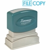 "Xstamper Pre-Inked Stamp - Message Stamp - ""FILE COPY"" - 0.50"" Impression Width x 1.63"" Impression Length - 100000 Impression(s) - Light Blue - Recycled - 1 Each"