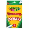 Waterbased Marker - Conical Point Style - Dark Green, Fluorescent Yellow, Pink, Flaming Orange, Electric Blue, Hot Pink Water Based Ink - 6 / Pack