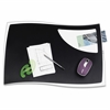 "CEP Isis Solid Black Design Desk Mat - 16.50"" Length x 24.80"" Width x 0.10"" Thickness - Polystyrene - Black"
