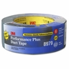 "3M Performance Plus Duct Tape - 2"" Width x 75 ft Length - 3"" Core - Polyethylene, Rubber - Polyethylene Coated Cloth Backing - Residue-free - 1 / Roll - Slate Blue"
