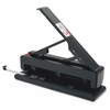 "Effortless 2-3 Hole Punch - 3 Punch Head(s) - 40 Sheet Capacity - 9/32"" Punch Size - Black"
