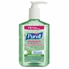 Purell Aloe Advanced Hand Sanitizer Pump - 8 fl oz (236.6 mL) - Pump Bottle Dispenser - Kill Germs - Hand, Skin - Green - Residue-free, Non-sticky - 1 Each