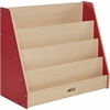 "ECR4KIDS Maple Big Book Display Stand - 30"" Height x 36"" Width x 16"" Depth - Maple, Red - 1Each"