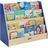 "ECR4KIDS Colorful Essentials Big Book Display Stand - 30"" Height x 36"" Width x 16"" Depth - Maple, Blue - 1Each"