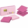 "Post-it® Pop-up Notes, 3"" x 3"", Assorted Pink - 600 - 3"" x 3"" - Square - 100 Sheets per Pad - Unruled - Pink - Paper - Pop-up, Repositionable - 6 Pad"