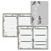 "Botanique Desk Weekly/Monthly Planner - Julian - Weekly, Monthly - 1 Year - January 2017 till December 2017 - 8:00 AM to 5:00 PM - 1 Month, 1 Week Double Page Layout - 5"" x 8"" - Wire Bound"