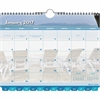 "Day-Timer Coastlines Calendar - Monthly - 1 Year - January 2017 till December 2017 - 11"" x 8.50"" - Wire Bound - Tabbed, Notepad"
