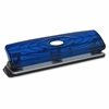 "Business Source Translucent Manual Hole Punch - 3 Punch Head(s) - 8 Sheet Capacity - 1/4"" Punch Size - Blue"