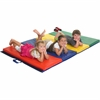 "Early Childhood Resources 4'x8' Tumbling Mat - Tumbling - 96"" Length x 48"" Width - Nylon, Vinyl, Polyurethane Foam"