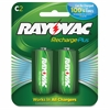 Rayovac Recharge Plus C Batteries - 3000 mAh - C - Nickel Metal Hydride (NiMH) - 2 / Pack