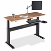"Height-adjustable Workstation Tabletop - Latte - 60"" Table Top Width x 24"" Table Top Depth x 1"" Table Top Thickness - Assembly Required"