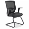 "Variable-Resist Lumbar Guest Chair with Arms - Black Seat - Black Back - Metal Frame - 24"" Width x 23.8"" Depth x 36.3"" Height"