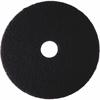 "3M Niagara 7200N Black Stripping Pad - 12"" Diameter - 5/Box x 12"" Diameter - Black"