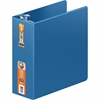 "Wilson Jones® Heavy Duty D-Ring Binder Xtra Durable Hinge - 4"" Binder Capacity - Letter - 8 1/2"" x 11"" Sheet Size - 750 Sheet Capacity - D-Ring Fastener - 2 Internal Pocket(s) - PC Blue - 1 Each"