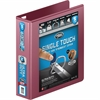 "Wilson Jones® Ultra Duty D-Ring View Binder w/ Extra Durable Hinge - 2"" Binder Capacity - Letter - 8 1/2"" x 11"" Sheet Size - 650 Sheet Capacity - D-Ring Fastener - 4 Internal Pocket(s) - Dark Red"