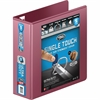 "Wilson Jones® Ultra Duty D-Ring View Binder w/ Extra Durable Hinge - 3"" Binder Capacity - Letter - 8 1/2"" x 11"" Sheet Size - 750 Sheet Capacity - D-Ring Fastener - 4 Internal Pocket(s) - Dark Red"
