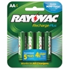 Rayovac Recharge Plus AA Batteries - AA - Nickel Metal Hydride (NiMH) - 1.2 V DC - 4 / Pack