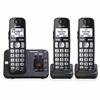 Panasonic KX-TGE233B DECT 6.0 1.90 GHz Cordless Phone - Black - Cordless - 1 x Phone Line - 2 x Handset - Speakerphone - Answering Machine - Hearing Aid Compatible - Backlight