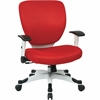 "OSP Designs Deluxe Task Chair - Red Seat - White Frame - 5-star Base - 20.50"" Seat Width x 19.50"" Seat Depth - 26"" Width x 26.8"" Depth x 38"" Height"